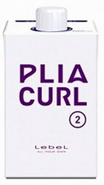 Lebel Plia Curl 2 Лосьон для химической завивки волос Шаг2