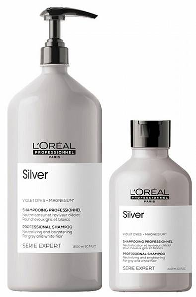 Loreal Silver Шампунь придающий блеск седым волосам