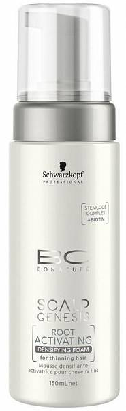 Schwarzkopf BC Scalp Genesis Уплотняющая пена для роста волос Root Activating