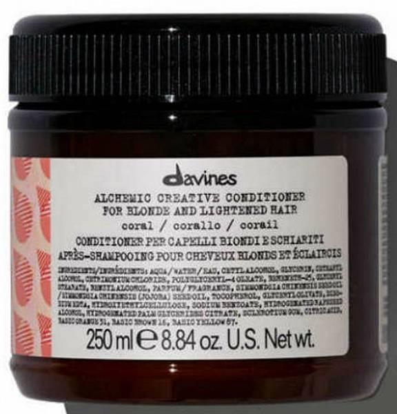 Davines Alchemic Креативный кондиционер для осветленных и натуральных блондов оттенок (коралл)