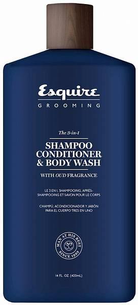 Esquire Grooming Средство 3-в-1 с ароматом масла дерева Уд