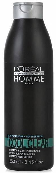 Loreal Homme Шампунь против перхоти Cool Clear