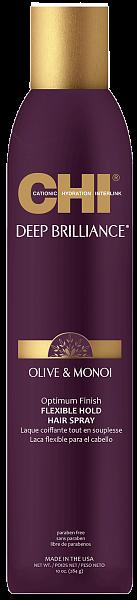 CHI Deep Brilliance Лак для волос эластичной фиксации