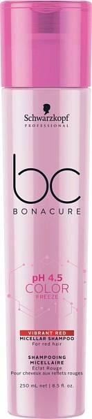Schwarzkopf BC pH 4.5 Color Freeze Мицеллярный шампунь для волос с ярким красным оттенком