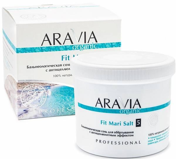 ARAVIA Organic Бальнеологическая соль для обёртывания с антицеллюлитным эффектом Fit Mari Salt
