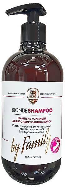 Protokeratin by Family Шампунь коррекция и непревзойденный уход за блондированными волосами