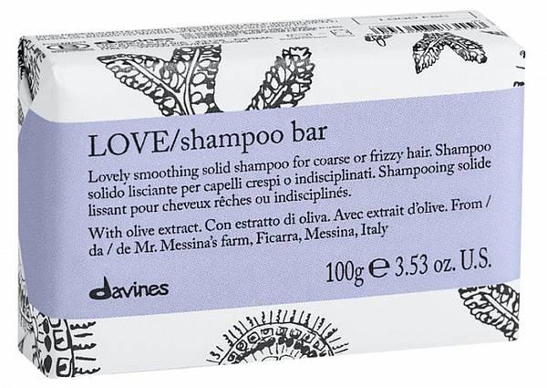 Davines Essential Твёрдый шампунь LOVE для разглаживания завитка
